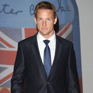 Jenson Button in The BRIT Awards 2012 - Arrivals - jenson-button-brit-awards-2012-02