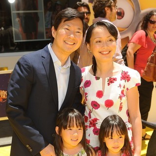 Ken Jeong, Tran Ho, Alexa Jeong, Zooey Jeong in Premiere of Universal Pictures' Despicable Me 2