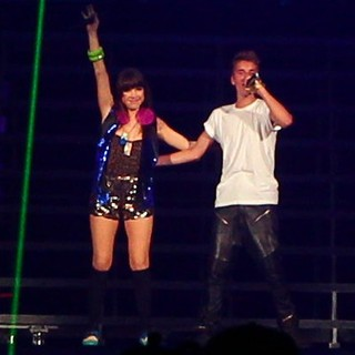 Carly Rae Jepsen, Justin Bieber in Carly Rae Jepsen Supports Justin Bieber on His Believe Tour