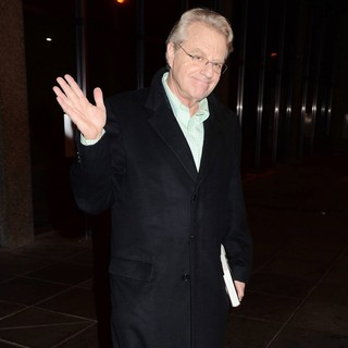 Jerry Springer in Celebrities Outside The RTE Studios for The Late Late Show