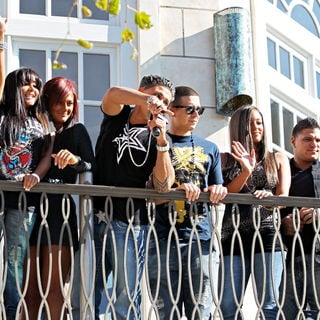 The Cast of MTV's 'Jersey Shore' Are Interviewed by Mario Lopez for The Television Show 'Extra'