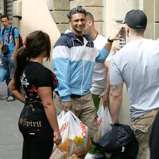 DJ Pauly D in Casts Shopping in Florence While Flming The Reality Show 'Jersey Shore'
