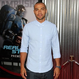 Jesse Williams in Los Angeles Premiere of Real Steel