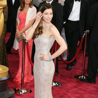 Jessica Biel in The 86th Annual Oscars - Red Carpet Arrivals