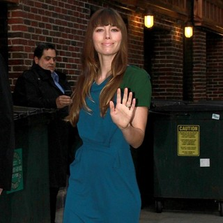 Jessica Biel in The Late Show with David Letterman - Arrivals