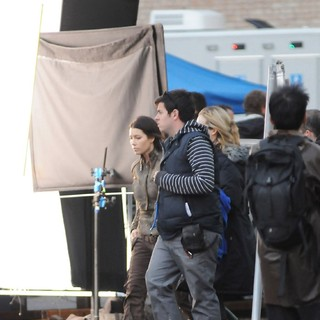 Jessica Biel in On The Set of Total Recall