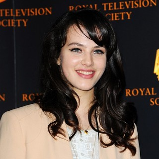 Jessica Brown Findlay in The RTS Programme Awards
