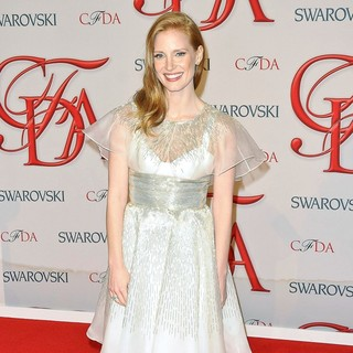 Jessica Chastain in 2012 CFDA Fashion Awards