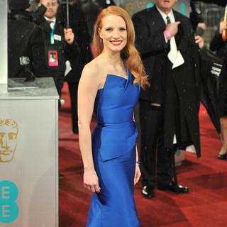 Jessica Chastain in The 2013 EE British Academy Film Awards - Arrivals