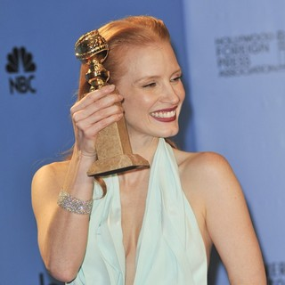 Jessica Chastain in 70th Annual Golden Globe Awards - Press Room