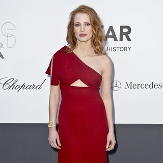 Jessica Chastain in 66th Cannes Film Festival - amfAR's 20th Annual Cinema Against AIDS - Arrivals