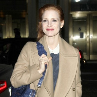 Jessica Chastain in Jessica Chastain Arrives for Her Broadway Play The Heiress