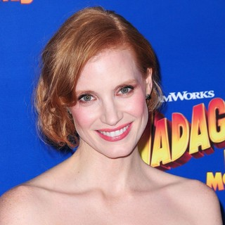 Jessica Chastain in New York Premiere of Dreamworks Animation's Madagascar 3: Europe's Most Wanted