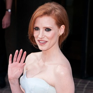 Jessica Chastain in Special Screening of The Debt - Outside Arrivals