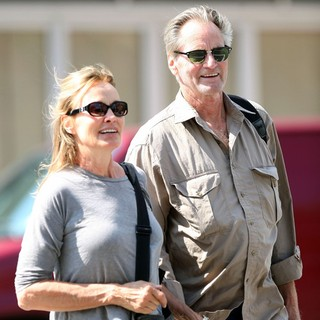 Jessica Lange, Sam Shepard in Jessica Lange and Sam Shepard Walk Arm-in-Arm Through Soho
