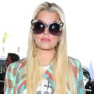 Jessica Simpson at Los Angeles International Airport