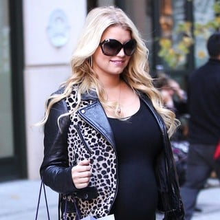 Jessica Simpson in Jessica Simpson Is Seen Exiting Her Manhattan Hotel