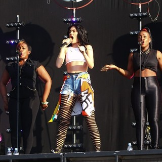 Jessie J in Barclaycard Wireless Festival 2012 - Day 3