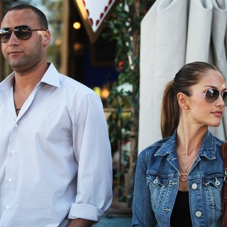 Derek Jeter, Minka Kelly in Minka Kelly and Derek Jeter Leaving Doughboys Cafe and Bakery Restaurant