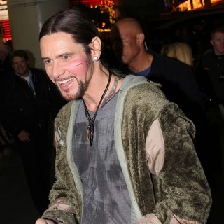 Jim Carrey in On The Film Set of Burt Wonderstone