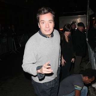 Jimmy Fallon in David Lee Roth Performs at Cafe Wha - Arrivals