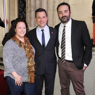 Jill Kimmel, Jimmy Kimmel, Jonathan Kimmel in Jimmy Kimmel Honored with A Star on The Hollywood Walk of Fame