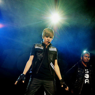 Justin Bieber in The 2010 Q102 Jingle Ball