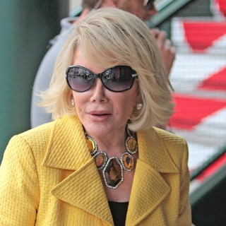 Joan Rivers in Celebrities at The Grove to Appear on Entertainment News Show Extra