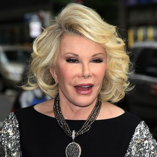 Joan Rivers in Celebrities Arriving for The Late Show with David Letterman