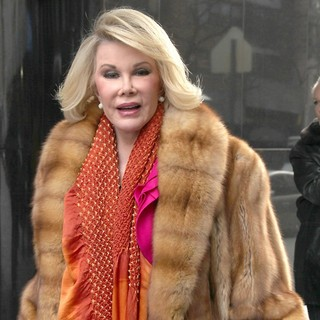 Joan Rivers in Celebrities Are Seen Leaving Fox Studios for Good Day New York