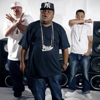 Fat Joe, Fred The Godson, Cory Gunz in On The Set of A New Music Video for Rapper Fred The Godson