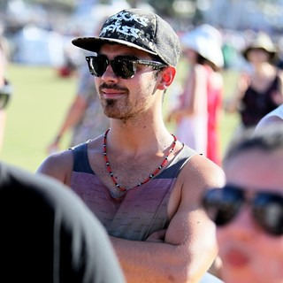 Joe Jonas, Jonas Brothers in Celebrities at The 2012 Coachella Valley Music and Arts Festival - Week 2 Day 1