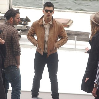 Joe Jonas, Jonas Brothers in Joe Jonas Films The Video for His Song Just In Love With You on Location