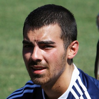 Joe Jonas, Jonas Brothers in Jonas Brothers Host Charity Soccer Match Before LA Galaxy