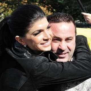 Teresa Giudice, Joe Giudice in Contestants on The Set of Celebrity Apprentice Shooting