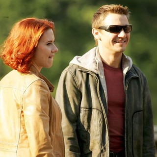 Scarlett Johansson, Jeremy Renner in Actors on The Set of The Avengers Shooting on Location in Manhattan