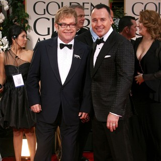 Elton John, David Furnish in The 69th Annual Golden Globe Awards - Arrivals