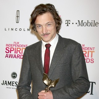 John Hawkes in 2013 Film Independent Spirit Awards - Press Room