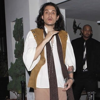 John Mayer in John Mayer Outside Palihouse Wearing A Medieval Costume