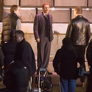 Johnny Depp in Filming on The Set of Mortdecai