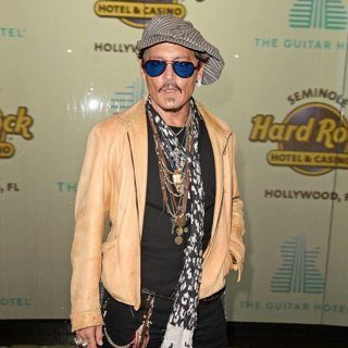 Johnny Depp in Grand Opening of The Guitar Hotel