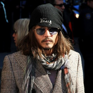 Johnny Depp in Celebrities Outside of The Ed Sullivan Theater for The Late Show with David Letterman