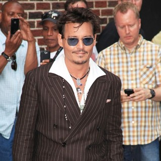 Johnny Depp in Celebrities for The Late Show with David Letterman