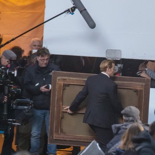 Johnny Depp in On The Set of Movie Mortdecai