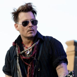 Johnny Depp Performs with The Super Group Hollywood Vampires
