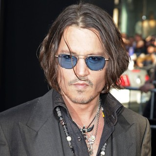 Johnny Depp in Dark Shadows Premiere