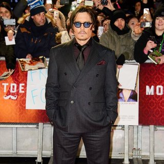 Johnny Depp - The UK Premiere of Mortdecai - Arrivals