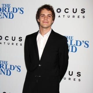 Johnny Simmons in The World's End Hollywood Premiere