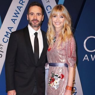 Jimmie Johnson, Chandra Janway in 51st Annual CMA Awards - Arrivals