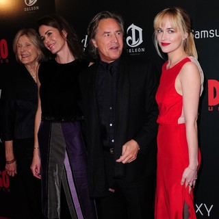 Don Johnson, Dakota Johnson in The Premiere of Django Unchained